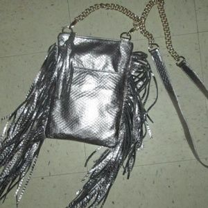 ZINA EVA ~SILVER LEATHER~CROSSBODY